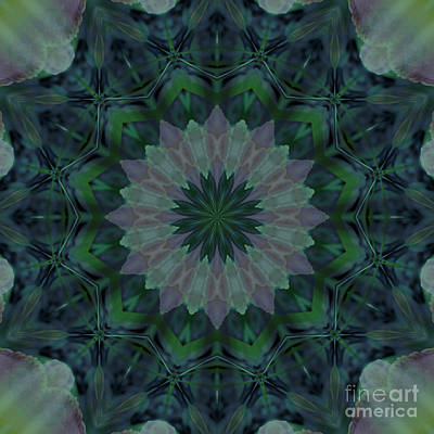 Digital Art - Mandala - Hagi Green Serene by Kathi Shotwell