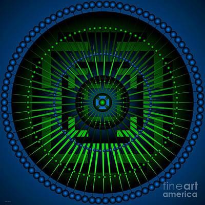 Etheric Digital Art - Mandala Healing For Gout And Arthritis by Sarah  Niebank