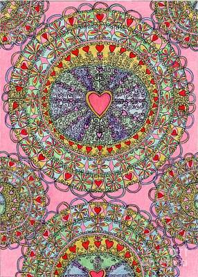 Mandala - Heart Filled Original by Mag Pringle Gire