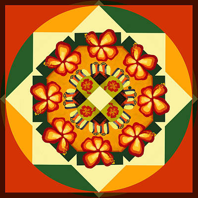 Digital Art - Mandala In Hex Style No2 by Ginny Schmidt