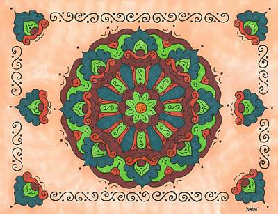 Painting - Mandala Love by Susie WEBER