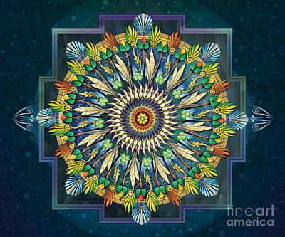 Healing Art Digital Art - Mandala Night Wish Sp by Bedros Awak