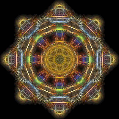 Mandala Of Light 1 Art Print