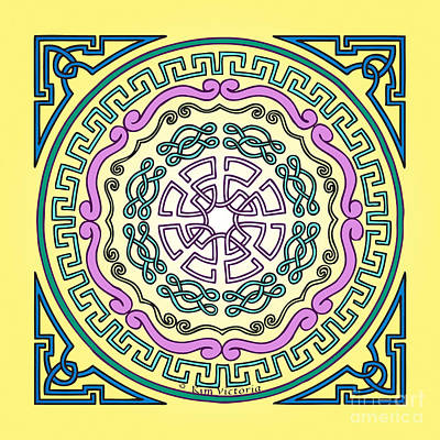 Kim Digital Art - Mandala Of The Air Element by Kim Victoria