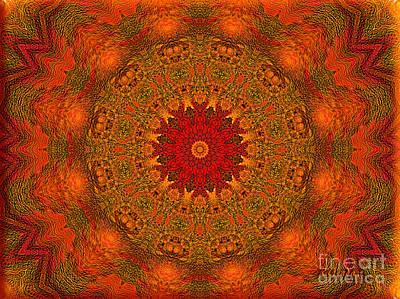 Mandala Of The Rising Sun - Spiritual Art By Giada Rossi Art Print