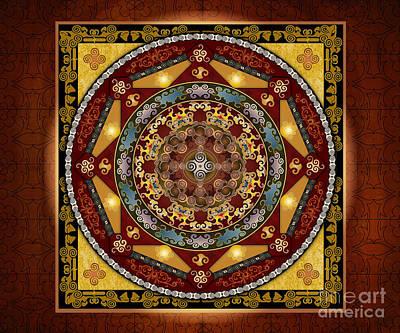 Healing Art Digital Art - Mandala Oriental Bliss Sp by Bedros Awak