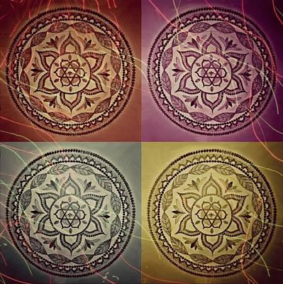 Sun Rays Mixed Media - Mandala Set by Robyn Slot