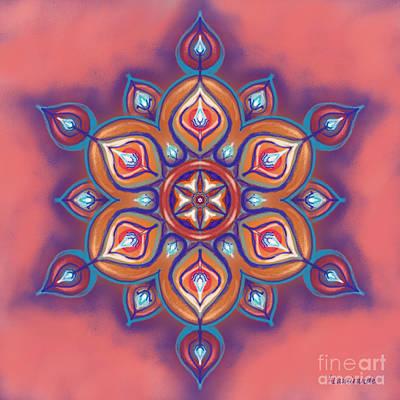Digital Art - Mandala - Soft Pastel by Louise Lamirande