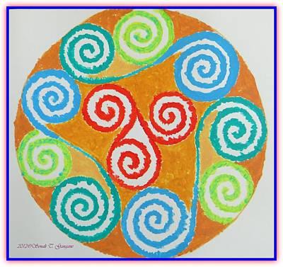 Art Print featuring the painting Mandala by Sonali Gangane