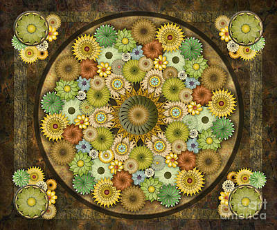 Mandala Stone Flowers Sp Art Print