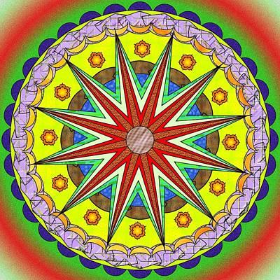Sand Mandala Painting - Mandala Sun by Mario Carini
