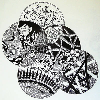 Lori Thompson Drawing - Mandalas by Lori Thompson