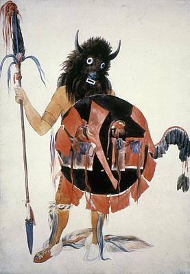 Mandan Buffalo Society Art Print