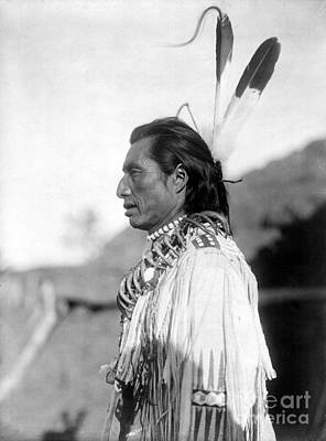 Heart Necklace Photograph - Mandan Medicine Man, C1908 by Granger