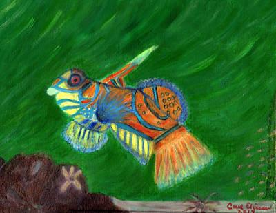 Mandarin Painting - Mandarin Fish  by Carol  Eliassen