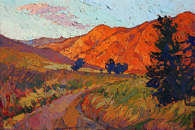 Print featuring the painting Mandarin Light by Erin Hanson