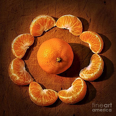 Orange Photograph - Mandarin - Vignette by Kaye Menner