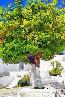 Mandarine Tree Painting Art Print by Magomed Magomedagaev