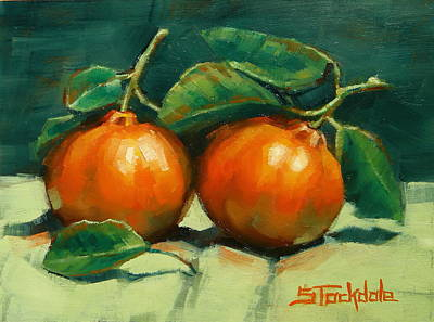 Painting - Bush Mandarins by Margaret Stockdale