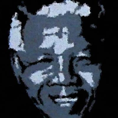 Mandela Art Print by Asbjorn Lonvig
