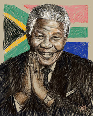 Digital Art - Mandela by Stan Kwong