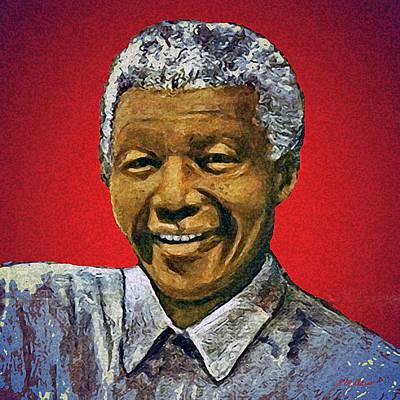 Mandelas Rainbow Nation-red Original by Michael Durst
