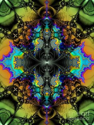 Test Pattern Digital Art - Mandelbrot Test / Sink Hole by Elizabeth McTaggart