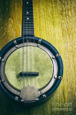 Mandolin-banjo Art Print by Carlos Caetano