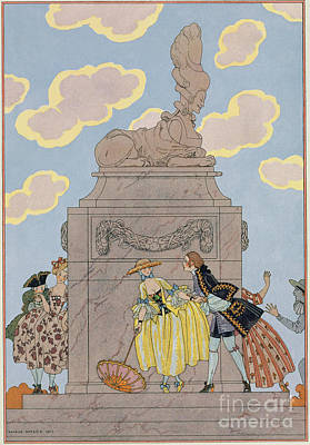 Mandoline Art Print by Georges Barbier