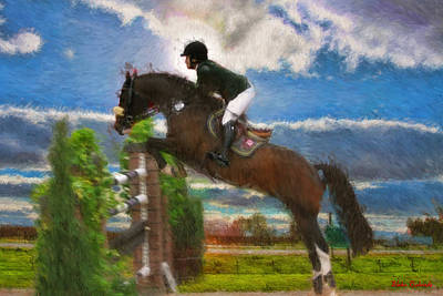 Photograph - Mandy Porter On Horse Con Capilot by Blake Richards