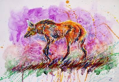 Painting - Maned Wolf by Zaira Dzhaubaeva