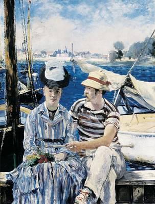Manet, �douard 1832-1883. Argenteuil Art Print by Everett