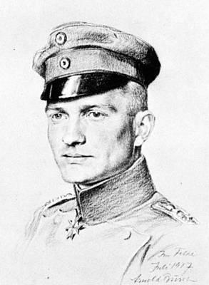 Maltese Drawing - Manfred Von Richthofen (1892-1918) by Granger