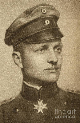 Maltese Photograph - Manfred Von Richthofen  by Granger