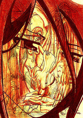 Manga Despair Art Print by Leon Bale
