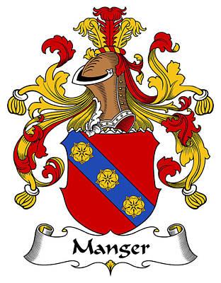 Manger Digital Art - Manger Coat Of Arms German by Heraldry