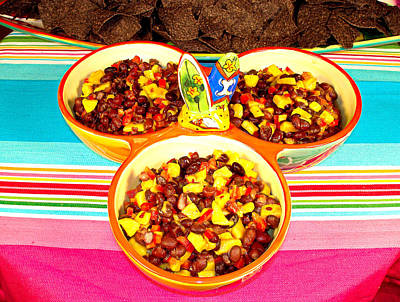 Dishes Photograph - Mango And Black Bean Salsa by Robert Meyers-Lussier