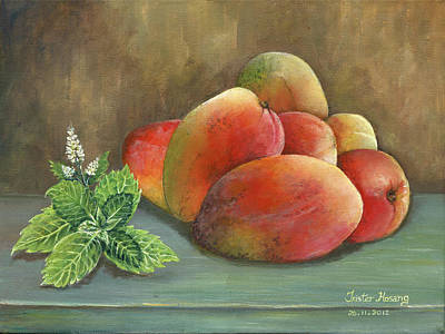 Painting - Mango And Mint by Trister Hosang