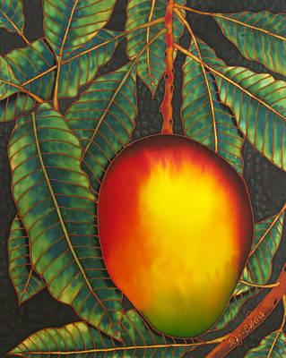 Silk Painting - Mango by Daniel Jean-Baptiste