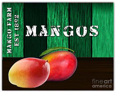 Mango Mixed Media - Mango Farm Sign by Marvin Blaine