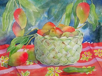Mango Harvest Art Print by Kathleen Rutten