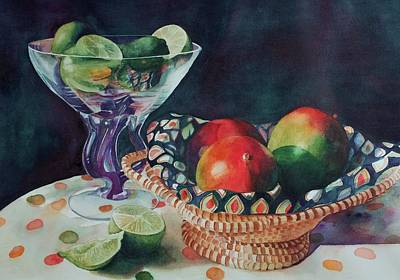 Mango With A Twist Of Lime Art Print by Leslie Berman