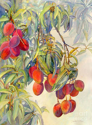 Mango Painting - Mangoes In The Evening Light by Dorothy Boyer