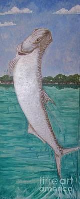 Sports Murals Painting - Mangrove Dancer by Sue Bonnar