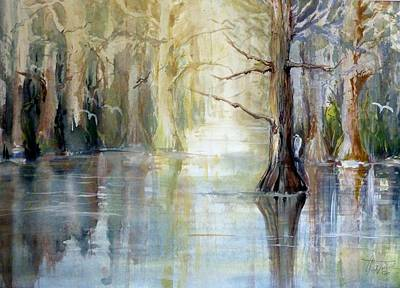 Painting - Mangroves by Christa Friedl