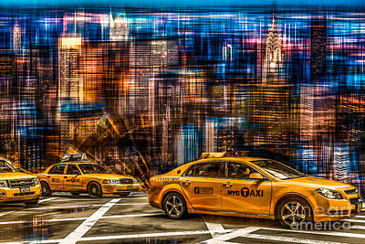 Manhattan - Yellow Cabs I Art Print by Hannes Cmarits
