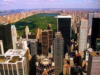 Photograph - Manhattan And Central Park by Monique's Fine Art