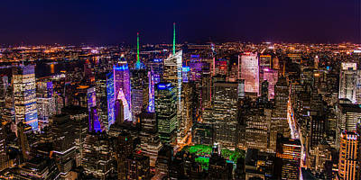 Photograph - Manhattan At Night 2 by Chris McKenna