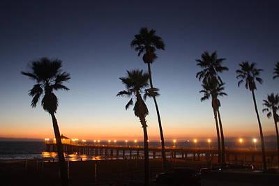 Photograph - Manhattan Beach Pier At Sunset by Daniel Schubarth