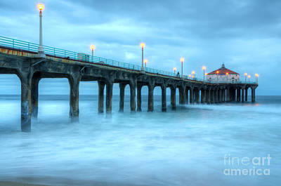 Photograph - Manhattan Beach Pier California by Bob Christopher